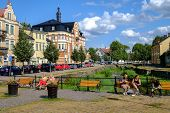 Idyllic Soderkoping during summer