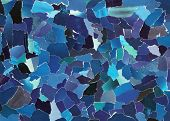 Dark blue texture made from many pieces of torn paper