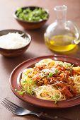 italian pasta spaghetti bolognese