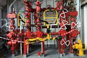 pic of  rig  - Choke Manifold and Rig Tong on Drilling Rig - JPG