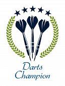 Darts shampion sporting emblem