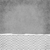Square Gray And White Zigzag Chevron Torn Grunge Textured Background