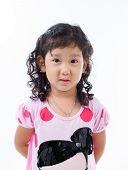 Beautiful young elementary age school girl