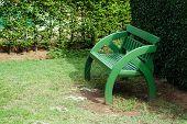 Wooden Green Original Chair In Garden