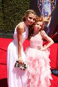 LOS ANGELES - AUG 16:  G Hannelius, Francesca Capaldi at the 2014 Creative Emmy Awards - Arrivals at Nokia Theater on August 16, 2014 in Los Angeles, CA