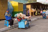 Selling Sweets in Banos, Ecuador