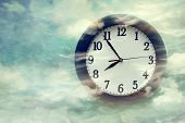 Wall clock on surreal looking background