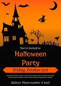 Постер, плакат: Halloween Party flyer