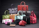 Set Of Beautiful Leather Handbags