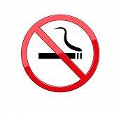 Red Round No Smoking Sign