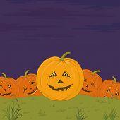 Halloween pumpkins army