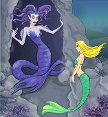 Fairy tale 6. Mermaid and witch.