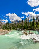 Majestic mountain river in Canada.