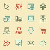 Internet web icons, retro color
