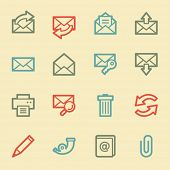 Email web icons, retro color