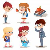 Vintage Style Characters School Children Set