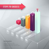 Road to Success Business Chart Infographic Element