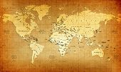 Detailed Old World Map poster