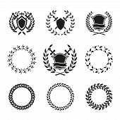 Shields and Wreaths Labels