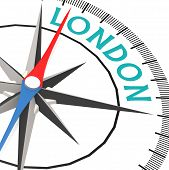 Compass With London Word