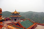 Roof Of Putuo Zongcheng Monastery In Chengde, China