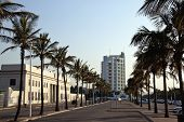 Palm Trees Line Marine Parade Outside Natal Command Headquarters