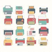 Icons  Printer full color Set
