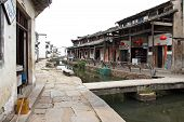 The Canal Of An Ancient Village In Anhui Province, China