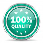 quality green glossy web icon