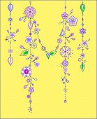 foto of windchime  - Illustration of Decorative Wind Chimes with floral ornament design - JPG