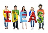 Multiethnic Group of People with Ideas Concept