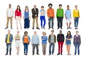 Group of Diverse Multiethnic Colorful People