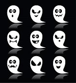 stock photo of halloween characters  - Vector icons set for Halloween  - JPG