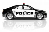 three - dimensional blackstyled police car