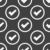 check mark web icon. flat design. Seamless pattern.