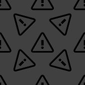info web icon. flat design. Seamless pattern.