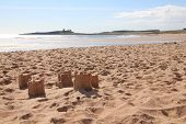 Sandcastles And Dunstanburgh Castle