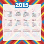 Calendar Template 2015 Vector Design Background