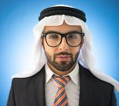 Arabic young business man with glasses