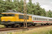 Passenger Train Races Past