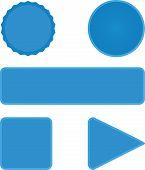 Set of six web buttons