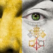 Face With Vatican City State Flag