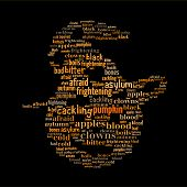 Halloween Pumpkin Word Cloud