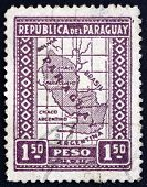 Postage Stamp Paraguay 1938 Map Of Paraguay