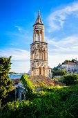 Old Church Bell Tower On The Island Of Hvar In Dalmatia