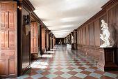 HAMPTON COURT, UK - AUGUST 03, 2014 - The Cartoon Gallery at Hampton Court Palace near London