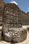 foto of throne  - an ancient Mayan throne carved from stone - JPG