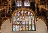 HAMPTON COURT, UK - AUGUST 03, 2014 - Window at the Tudor Great Hall at Hampton Court Palace on Augu