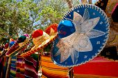 Colorful Sombreros And Ponchos