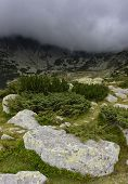 Stormy landscape in National Park Retezat, Romania, Europe